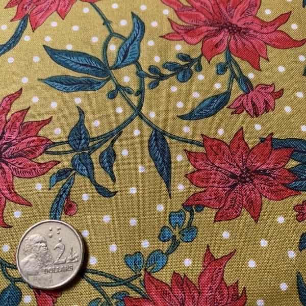 Liberty Cotton Poinsettia